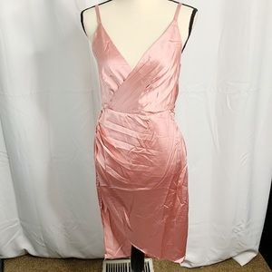NEW xtaren pink silky backless party dress NYE L